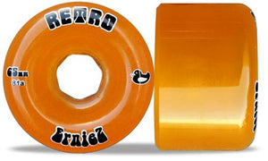 ABEC 11 Wheels Erniez Retro 65mm 81a Orange 4 Pack