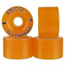 ABEC 11 Wheels 70's Flashback 70mm 81a Amber 4 Pack