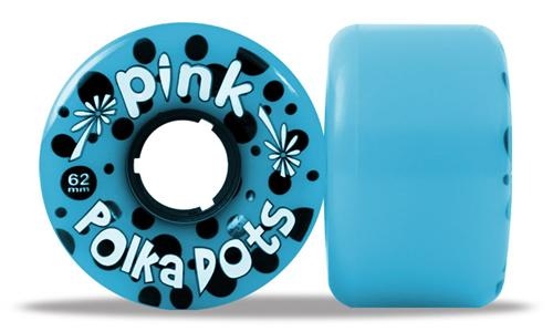 ABEC 11 Wheels Pink Polka Dots 62mm 81a Blue 4 Pack