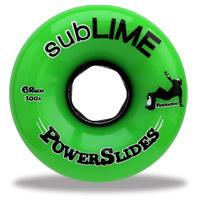 ABEC 11 Wheels Sublime Powerslides 62mm 100a Green 4 Pack