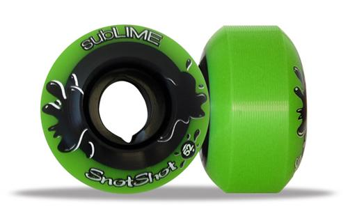 ABEC 11 Wheels Sublime Snotshot 52mm 99a Green 4 Pack