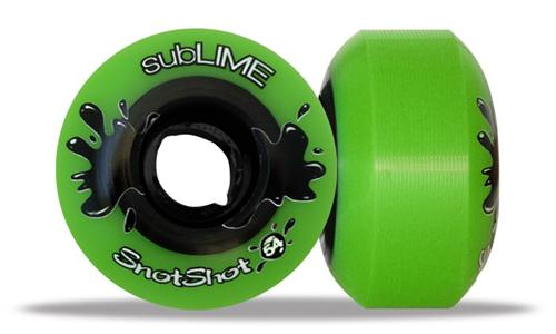 ABEC 11 Wheels Sublime Snotshot 54mm 99a Green 4 Pack