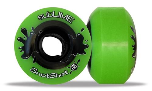 ABEC 11 Wheels Sublime Snotshot 60mm 99a Green 4 Pack