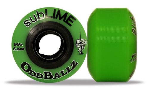 ABEC 11 Wheels Sublime Oddballz 61mm 99a Green 4 Pack