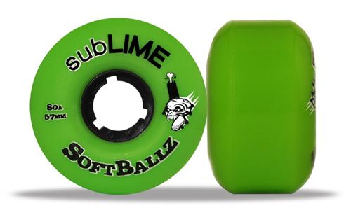 ABEC 11 Wheels Sublime Softballz 57mm 80a Green 4 Pack