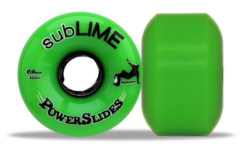 ABEC 11 Wheels Sublime Powerslides 64mm 100a Green 4 Pack
