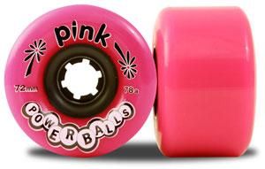 ABEC 11 Wheels Pink Powerball 72mm 78a Pink 4 Pack