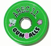 ABEC 11 Wheels Gumballs 76mm Green 4 Pack