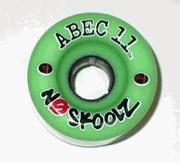 ABEC 11 Wheels Classic No Skoolz 65mm Green 4 Pack
