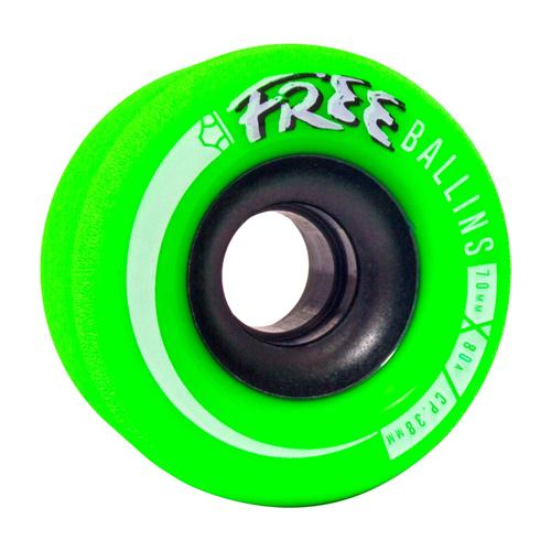 OMEN Wheels Free Ballins 70mm 80a Green 4 Pack