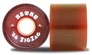 ABEC 11 Retro ZigZag 66mm 78a Red 4 Pack