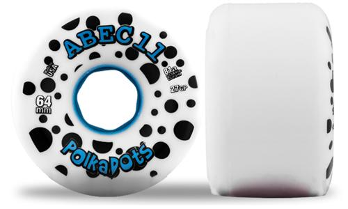 ABEC 11 Wheels Pink Polka Dots 64mm 81a White and Blue 4 Pack