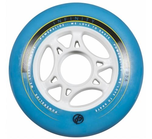 Powerslide Infinity II Wheels Blue 4 Pack