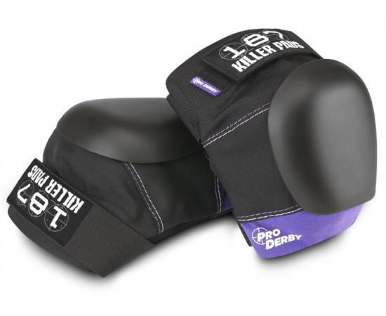 187 Pro Derby Knee Black/Purple