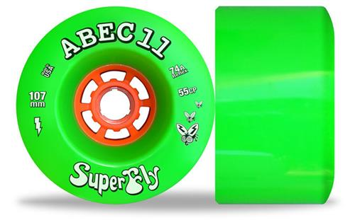 ABEC 11 Wheels SuperFly 107mm 74a Green 4 Pack