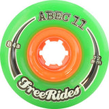 ABEC 11 Wheels Classic Freerides 72mm Green 4 Pack