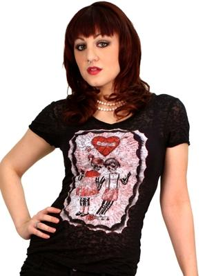 Sourpuss Burn Out F*ck Off & Die T-Shirt XL
