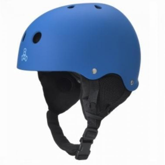 Triple 8 O'School Audio Snow Helmet Royal Rubber