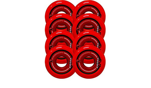 Kryptonics Wheels Vectra Wheels 76mm 82a Clear Red - Each