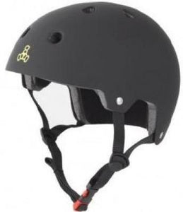 Triple 8 Certified Helmet SS All Black Rubber