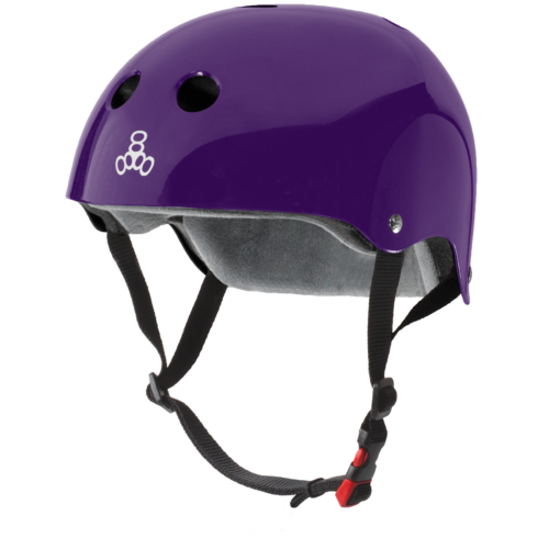Triple 8 THE Certified Helmet SS Purple Gloss