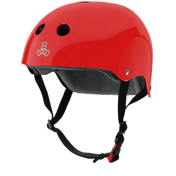 Triple 8 THE Certified Helmet SS Red Gloss