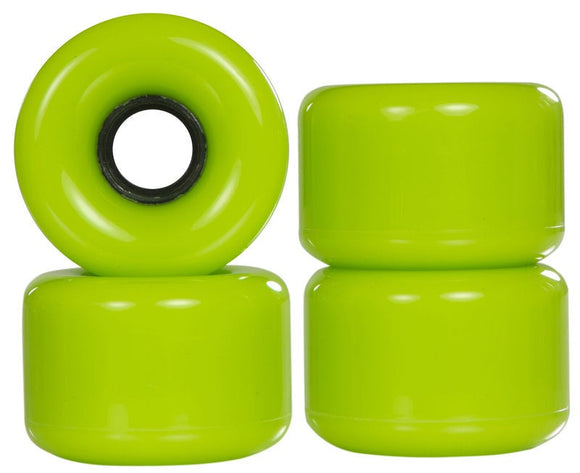 Powerslide Blank Green Longboard Wheels 4 Pack