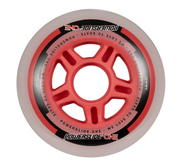 Powerslide One Wheels Combo Wheel Set 8 Pack inc Bearings