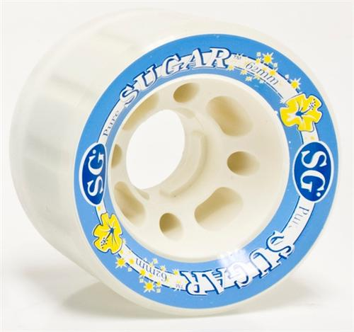 Suregrip Sugar Wheels 62mm 85a Sweetners Clear White 4Pack