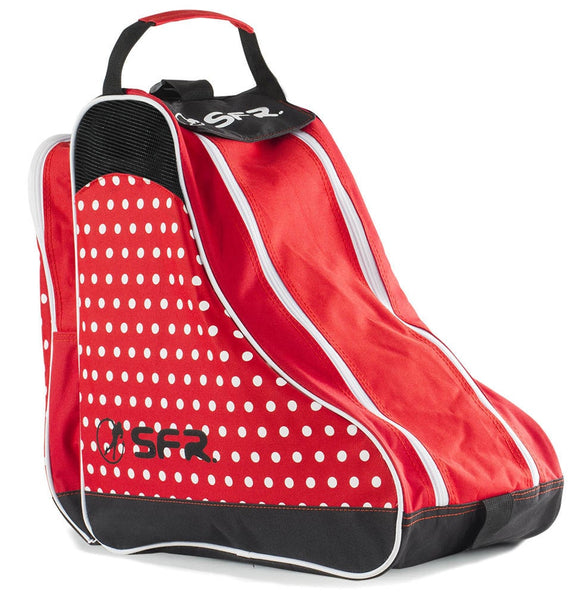 SFR Skate Bag Red and White Polka