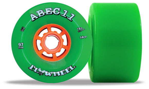 ABEC 11 Flywheel 97mm Green 4 Pack