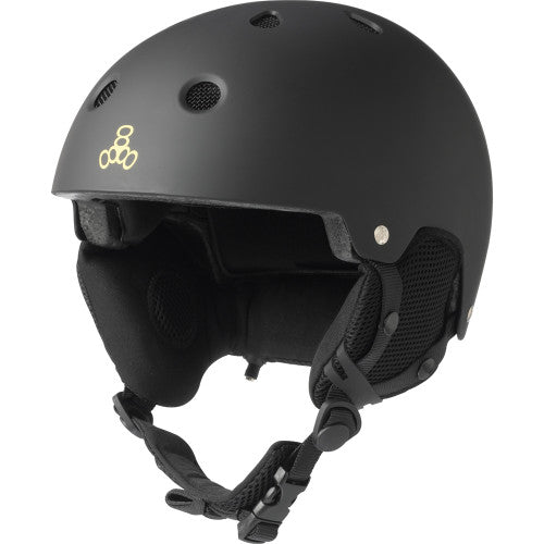 Triple 8 O'School Audio Snow Helmet Black