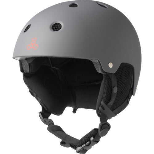 Triple 8 O'School Audio Snow Helmet Gun Matte Rubber