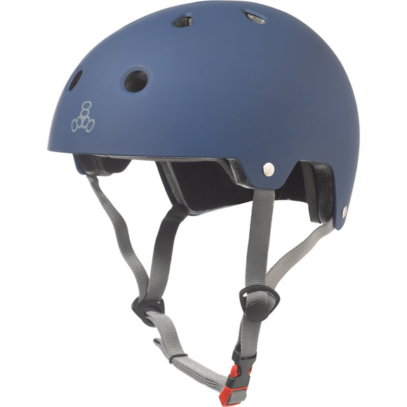 Triple 8 Certified Helmet SS Blue Rubber