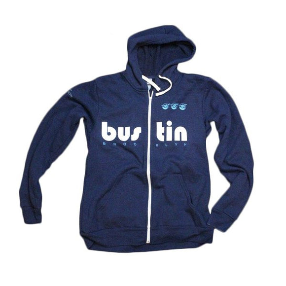 Bustin Boards Zipper Hoodie Blue