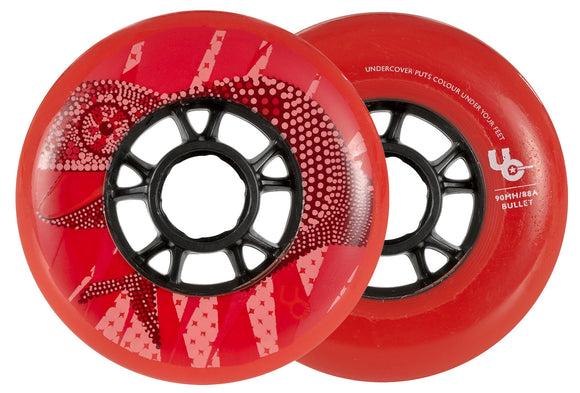 Undercover Wheels Chameleon 90mm 88a Red Each