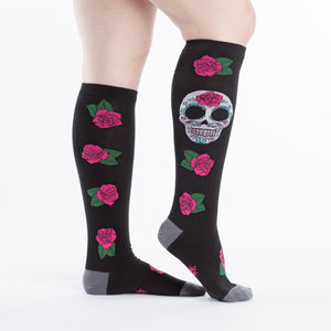 Sock it to Me Sugar Skull Knee High Socks