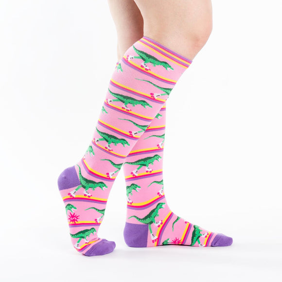 Sock it to Me Rawr-ler Rink Knee High Socks