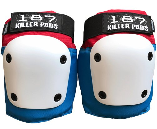 187 Fly Knee Pads - Red, White and Blue