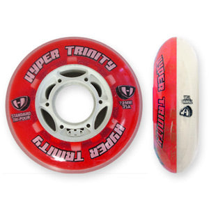 Hyper Wheels Trinity Standard 80mm 85a Red and White - Each