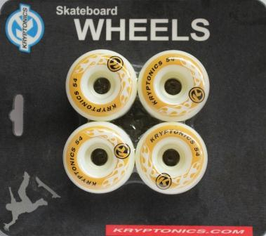 Kryptonics Wheels Flames 54mm 97a 4Pack