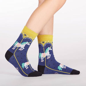 Sock it to Me Carousel Junior Crew Socks