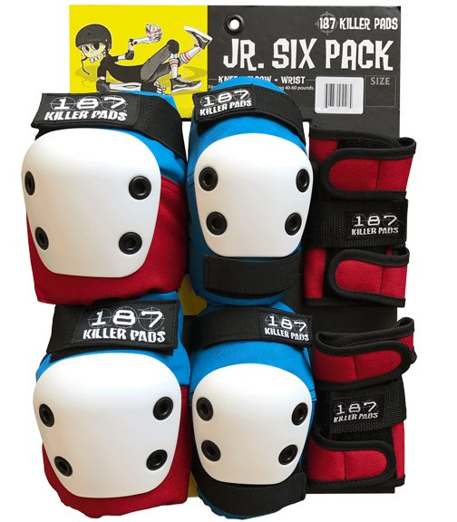 187 Six Pack Junior Red, White and Blue