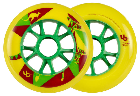 Undercover Wheels Kangaroo 100mm 86a Yellow Each