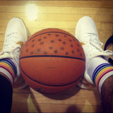 Pride Fearless Low Cut Tube Socks White w Rainbow