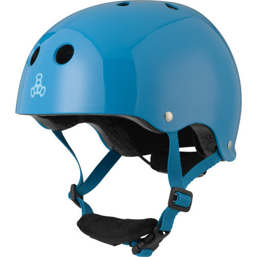 Triple 8 Lil 8 Certified Youth Helmet Blue Gloss