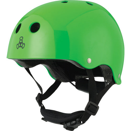 Triple 8 Lil 8 Certified Youth Helmet Neon Green Gloss