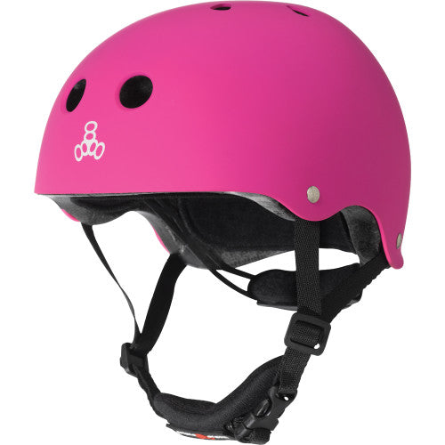 Triple 8 Lil 8 Certified Youth Helmet Neon Pink Rubber