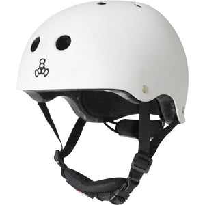 Triple 8 Lil 8 Certified Youth Helmet White Gloss