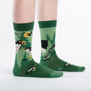 Sock it to Me Wilderness Hawk Mens Crew Socks